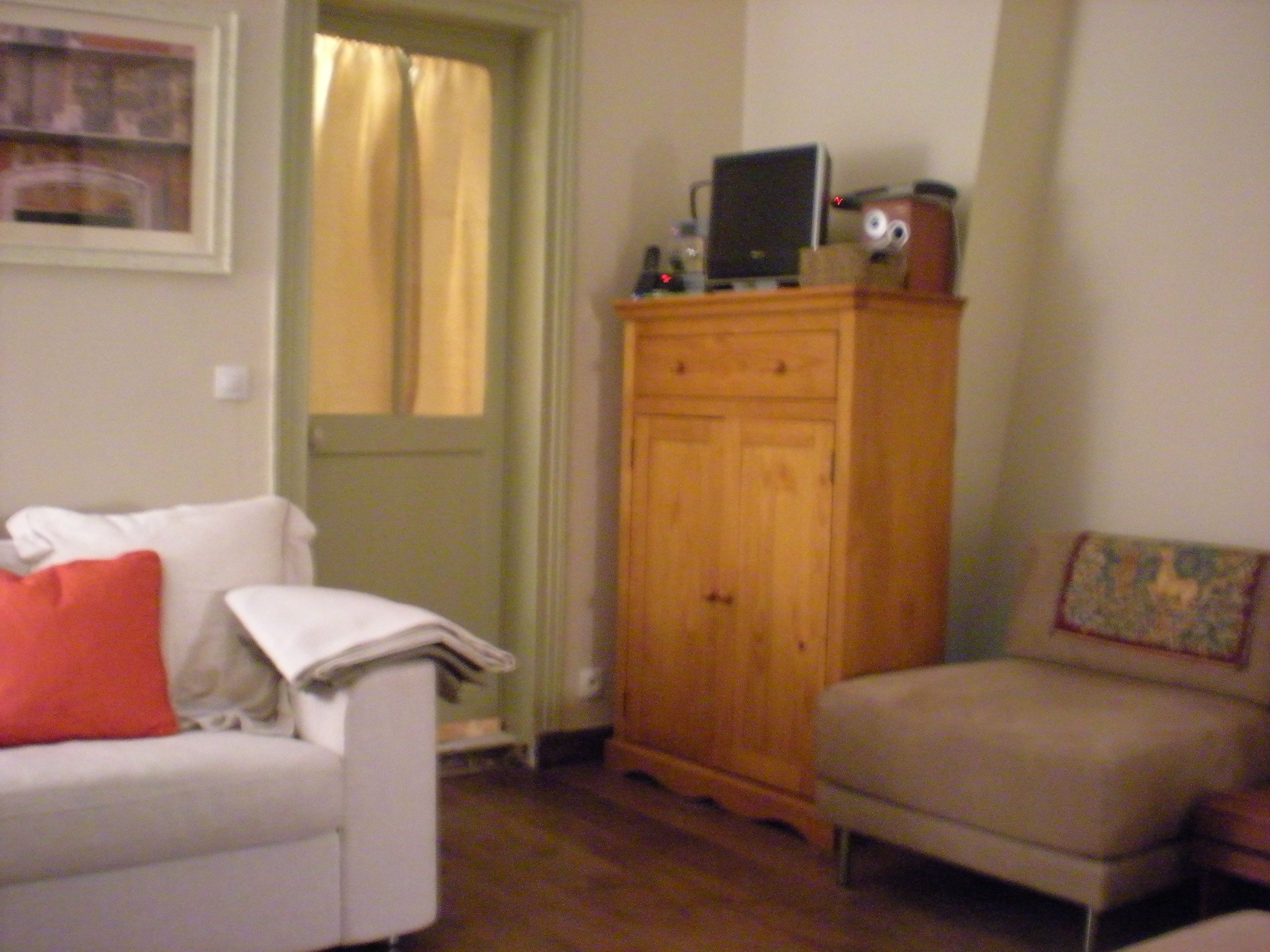 Living room - door to the bedroom